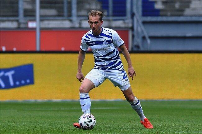 Im Mai noch im Trikot des MSV Duisburg, jetzt beim FSV Zwickau aktiv: Mittelfeldspieler Maximilian Jansen.