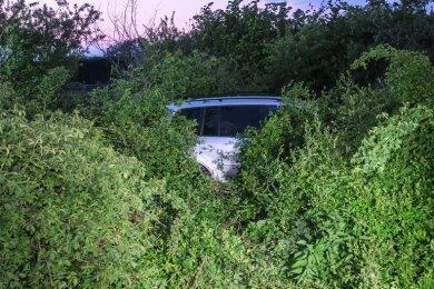 Der VW kam in Höhe der A-72-Anschlussstelle Zwickau-West von der Fahrbahn ab und landete in einem Buschwerk.