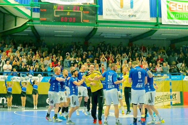 Auer Handballer gewinnen das Sachsenderby gegen Elbflorenz