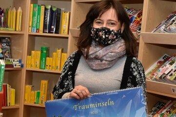 Gabriele Rieß von der Buchhandlung in Markneukirchen.