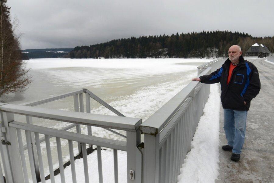 Talsperre Werda bereit für Tauwasser aus dem oberen Vogtland