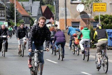 Am Radlersonntag ist der Mülsengrund autofrei. Ob er dieses Jahr stattfinden kann, hängt von der Coronalage ab.