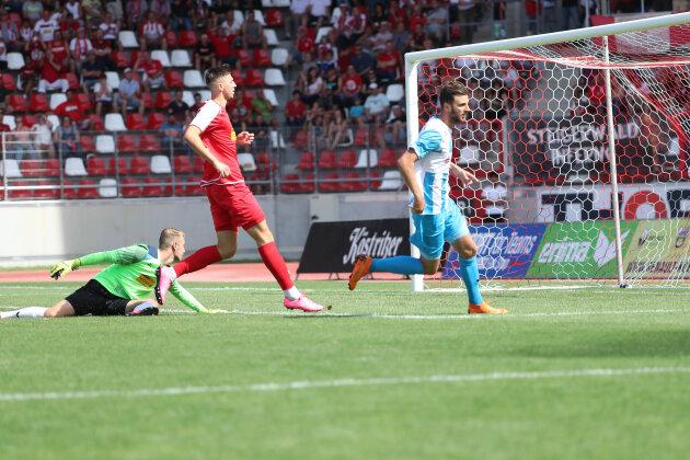 Tor für Chemnitz, Treffer zum 0:1 durch Torschütze Dejan Bozic