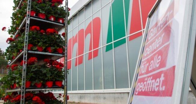 Auch die Gartenabteilung im Plauener Toom-Baumarkt hatte zuletzt geöffnet. Erst am Dienstag gab es offiziell grünes Licht dafür.