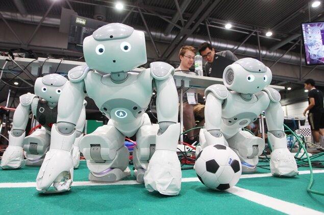Fußball-Weltmeisterschaft der Roboter seit Donnerstag in Leipzig