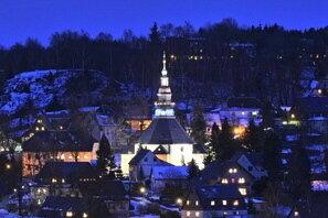 Die Bergkirche in Seiffen.