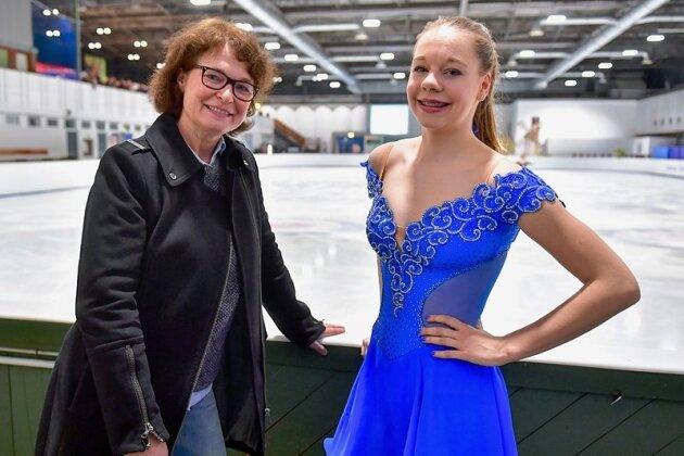Olympiasiegerin Anett Pötzsch (l.) betreut als Trainerin auch die deutsche Spitzenläuferin Lea Johanna Dastich.