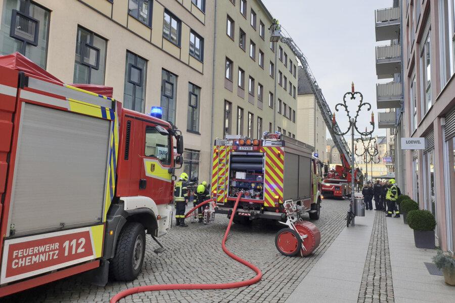 Wohnungsbrand in der Chemnitzer Innenstadt