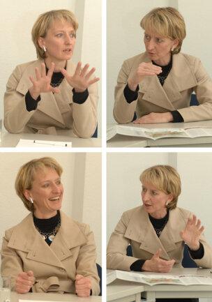 """Baubürgermeisterin Petra Wesseler stand Redakteuren der """"Freie Presse"""" Rede und Antwort."""