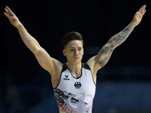 Marcel Nguyen belegt Platz sechs im Bodenturnen