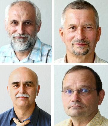 Die Experten: oben Uwe Engelmann und Manfred Wolf; unten: Michael Göckert und Michael Aurich,
