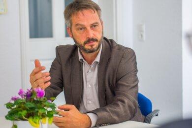 """Vor der Wahl stand Thomas Kunzmann in einem Redaktionsgespräch Reportern der """"Freien Presse"""" Rede und Antwort."""