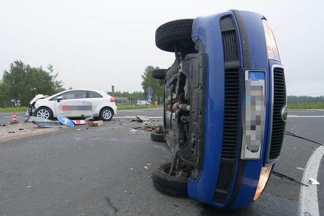 Zwei Verletzte bei Unfall zwischen Freiberg und Hainichen