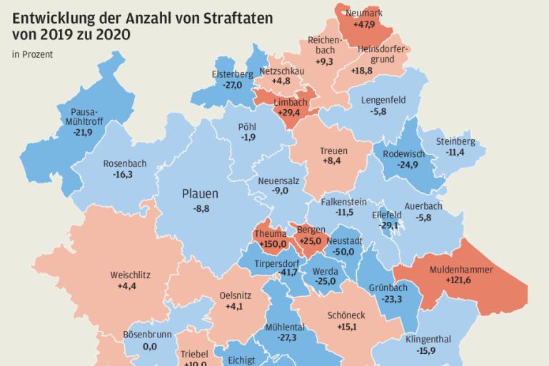 Wo es mehr Straftaten gibt: Die Kriminalitätsentwicklung im Vogtland