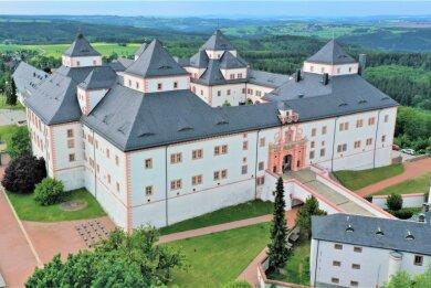 Der Blick auf Schloss Augustusburg. Bergauf ist der Weg hart, allerdings lohnt sich die Anstrengung.