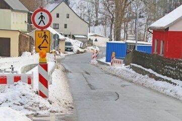 Von der Baustelle in Randeck aus soll ein Gehweg verlängert werden.