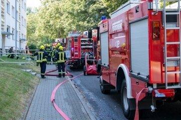 In einer Rochlitzer Erdgeschosswohnung kam es am Freitag zu einem Brand.