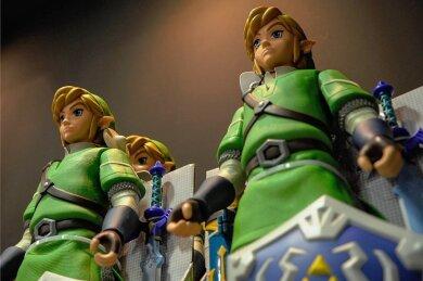 """Mini-Sammlerfiguren von """"Zelda""""-Held Link."""