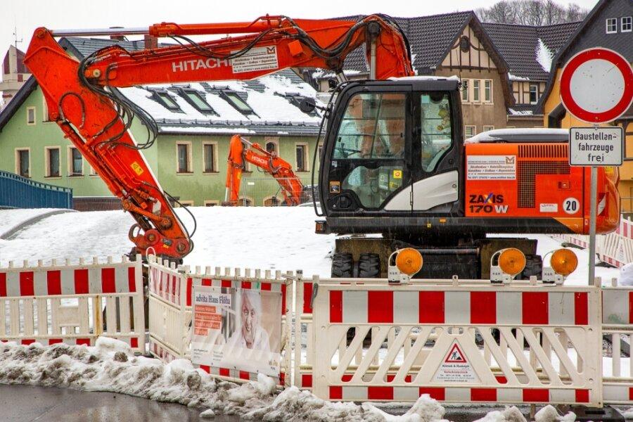 Auf den Baustellen in Mittelsachsen herrscht Winterpause.