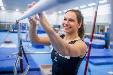 Sophie Scheder erkämpfte an ihrem Paradegerät Stufenbarren mit Olympiabronze ihren bislang wertvollsten Erfolg.