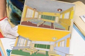 Entwürfe zur Gestaltung der Klassenräume in Milkau lagern nun ein.