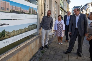 Jörg Dietrich (links) hat auch die Glauchauer Palla (auf dem Schaubild unten) auf besondere Weise fotografiert.