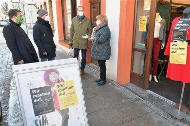 Anfang Januar hatten Freiberger Innenstadthändler mit einer Aktion auf ihre Situation aufmerksam gemacht.