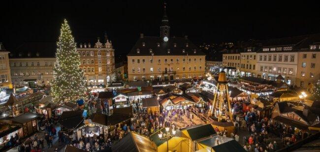 Der Annaberger Weihnachtsmarkt 2019.