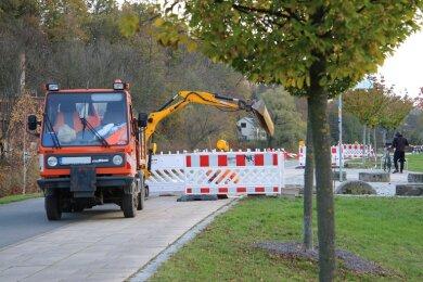 Die Bauarbeiten am Muldeparadies haben in dieser Woche begonnen.