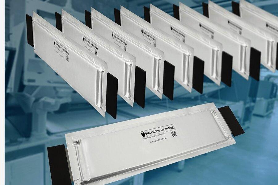 Können in den Abmessungen flexibel produziert werden: Batteriezellen von Blackstone Technology.