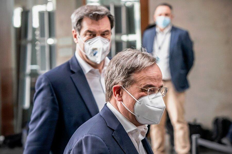 Er oder er - wer wird Kanzlerkandidat der Union? Der Bayer Markus Söder (CSU) oder Armin Laschet (CDU) aus Nordrhein-Westfalen. Am Abend des Tages, der die Entscheidung hätte bringen können, ist die Union wieder einmal keine Union.