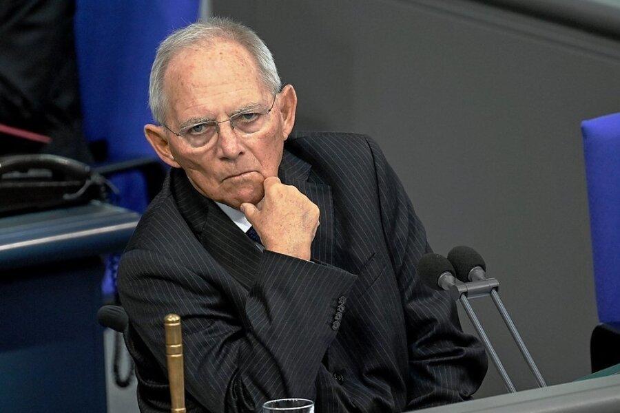 Wolfgang Schäuble im Gespräch.