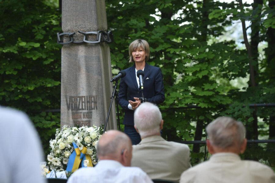 Oberbürgermeisterin Barbara Ludwig (SPD) auf der Gedenkveranstaltung.