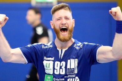 Aues Arnar Birkir Halfdansson freut sich nicht nur über die anhaltende Siegesserie des EHV, sondern auch aufs Saisonfinale vor Fans.