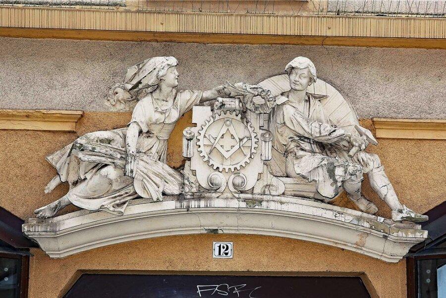 Dieses Relief erinnert an die Tormühle.