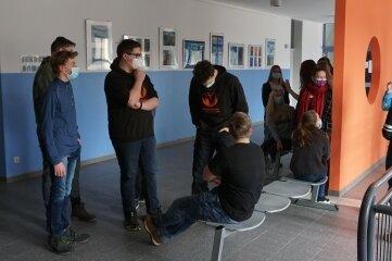 Das Foyer der Oberschule Eibenstock hat frische Farbe bekommen.