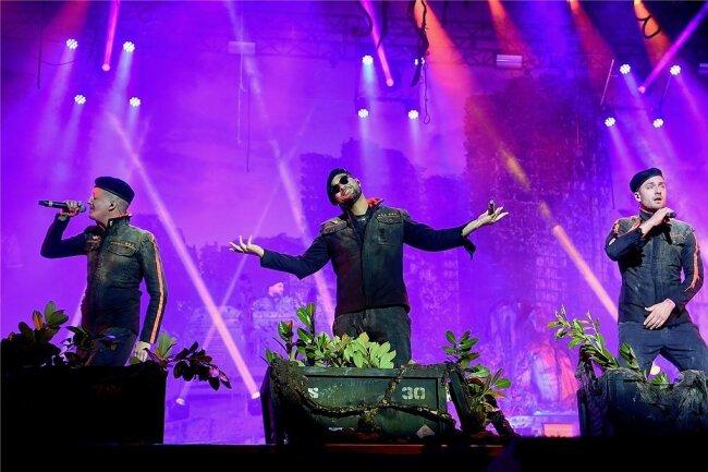 """""""Rap über Hass"""": Nico Seyfrid, Tarek Ebéné und Maxim Drüner (von links) sind K.I.Z."""