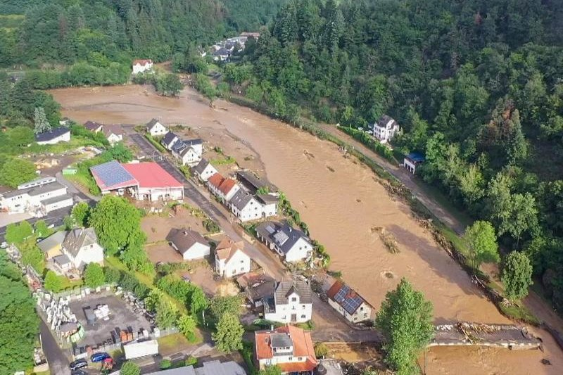 Der Eifel-Ort Schuld ist durch das Hochwasser besonders stark betroffen.