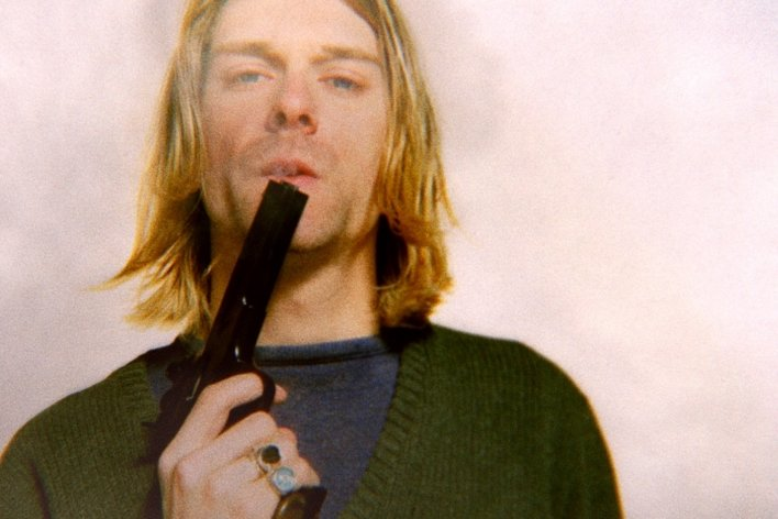 """Kurt Cobain in einer Szene des Kinofilms """"Cobain: Montage of Heck""""."""