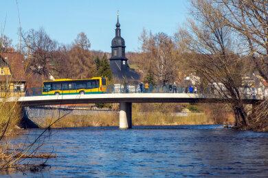 Dei Brücke zur Freigabe am 31. März 2021...