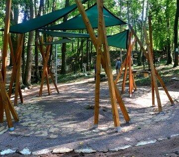 Die neue Bühne im Park: am Samstag gibt es dort das erste Konzert.