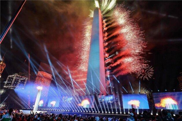 Die Eröffnungsfeier mitten im Stadtzentrum der argentinischen Hauptstadt begeisterte die Sportler und Zuschauer gleichermaßen.