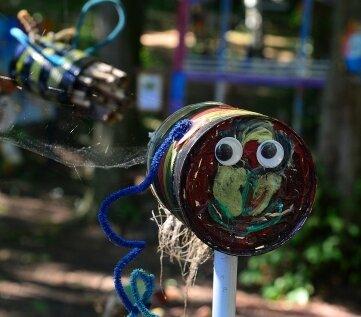 Kinder der DaZ-Klasse aus Mittweida haben dieses Objekt gestaltet.
