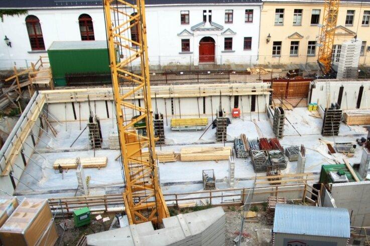 Die Tiefgarage unter dem Erweiterungsbau bietet rund 20 Fahrzeugen Platz.