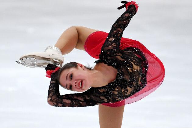 Die russische Eiskunstläuferin Alina Sagitowa