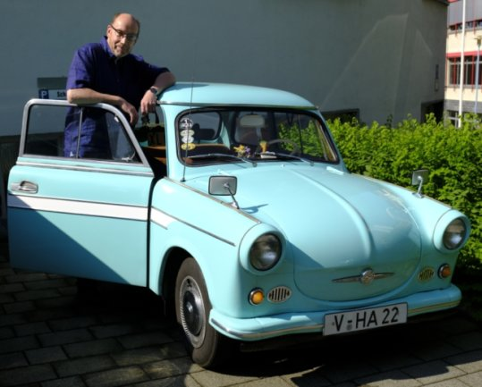 Von der Ostsee bis zum Böhmerwald reichten die Ziele, die Tasso Börner mit seinem 600er Trabant früher angesteuert hat. Heute ist er mit dem Auto meist nur noch in Reichenbach unterwegs.