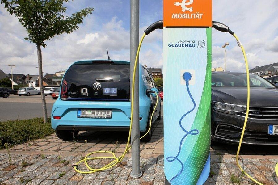 Die Ladesäule am Parkplatz Hoffnung in Glauchau wird am meisten frequentiert.