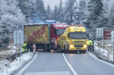 Ein Lkw-Unfall verursachte am Donnerstagnachmittag einen langen Stau.