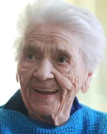 Frieda Szwillus ist Sachsens älteste Bewohnerin.