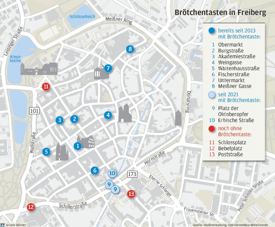 Kurzzeitparken: Brötchentaste klemmt in Freiberg